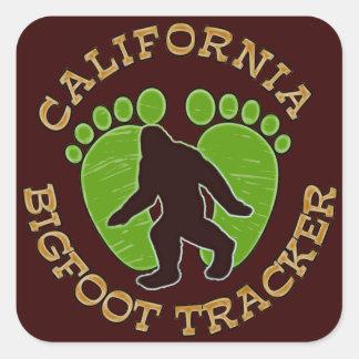 California Bigfoot Tracker Square Stickers