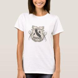 Women's Basic T-Shirt with California Birder design