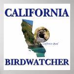 California Birdwatcher Poster