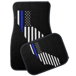 California blue line flag car mat set
