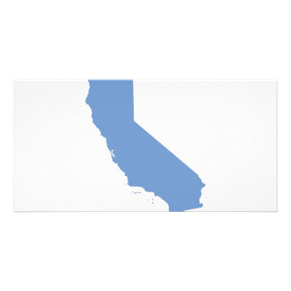 California Blue State Personalized Photo Card
