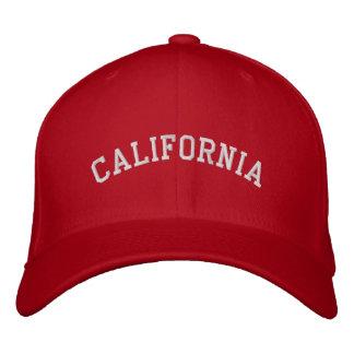 California bordó rojo del casquillo de las lanas d gorra de béisbol bordada