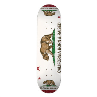 California Born and Raised Distressed Skateboard Deck