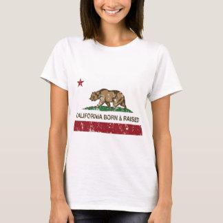 California Born and Raised Distressed T-Shirt