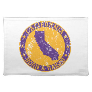 California born and raised Los Angeles Placemat