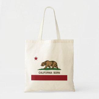 California Born Bear Flag Tote Bag