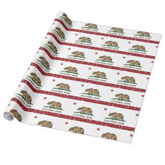 California Born Bear Flag Wrapping Paper