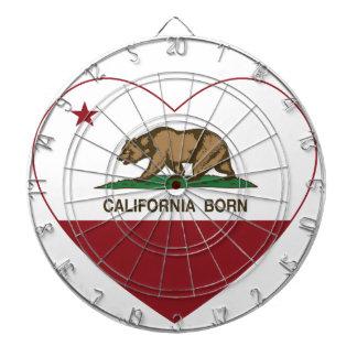 California Born Heart Dartboard With Darts