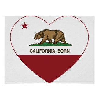 California Born Heart Poster