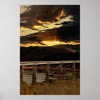 California Bridge Sunrise print