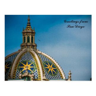 California Building Dome Balboa Park San Diego Postcard