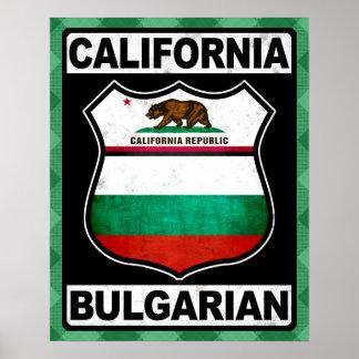 California Bulgarian American Poster Print