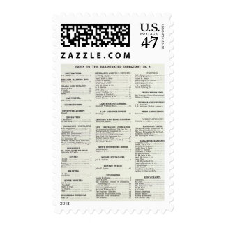 California Business Index Page Postage