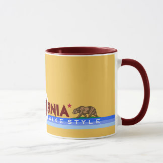 California CA biking state flag Mug