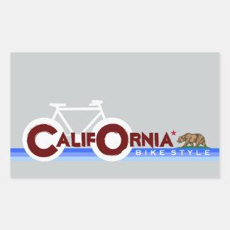California CA biking state flag Rectangular Sticker