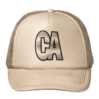 California CA chromehead Trucker Hat