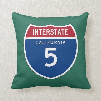 California CA I-5 Interstate Highway Shield - Throw Pillow