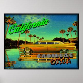 california cadillac style poster