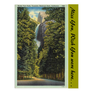 California, caídas nupciales del velo tarjeta postal