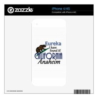 CALIFORNIA CALCOMANÍA PARA iPhone 4
