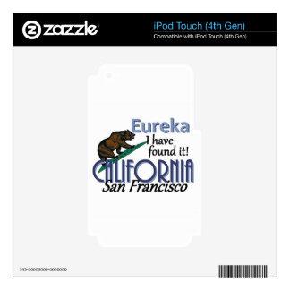 CALIFORNIA CALCOMANÍA PARA iPod TOUCH 4G