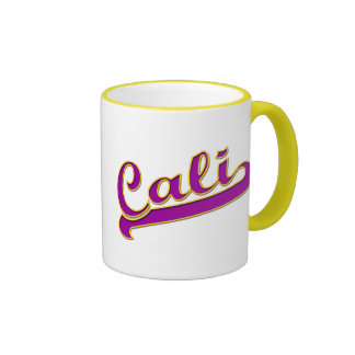 California Cali Logo Purple Yellow Mug