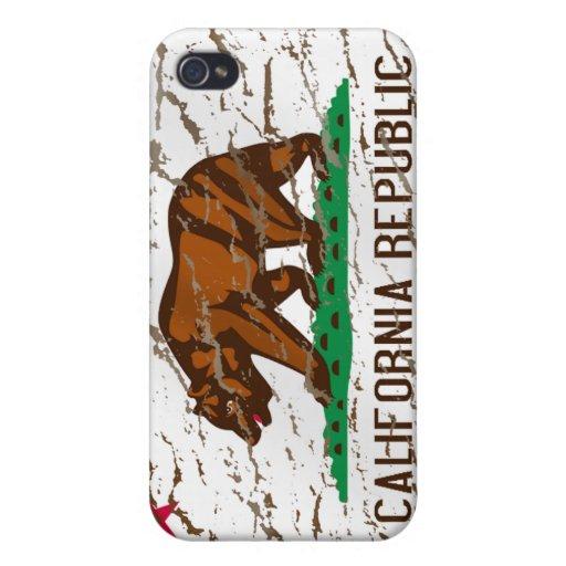 California - California Washed Retro State flag iPhone 4/4S Case