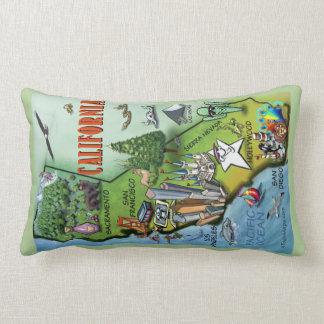 California Cartoon Map Pillow