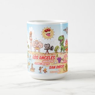 California Cartoon Paradise Mug