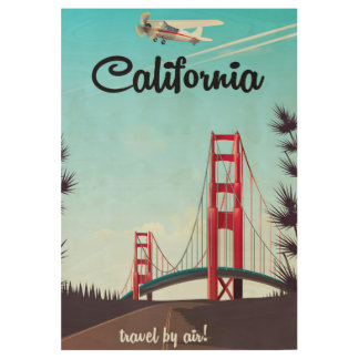 California Cartoon travel poster