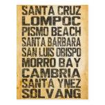 California Central Coast Postcard