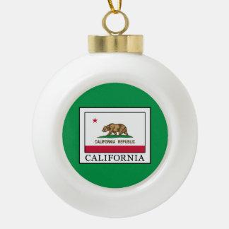 California Ceramic Ball Christmas Ornament