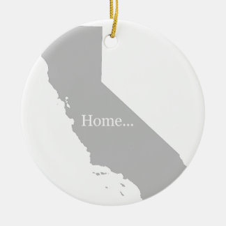 California Ceramic Ornament