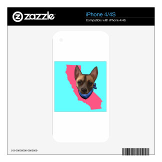 CALIFORNIA CHIHUAHUA iPhone 4 SKINS
