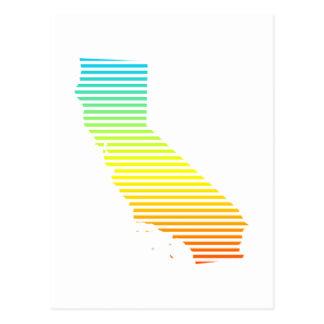 california chill fade postcard
