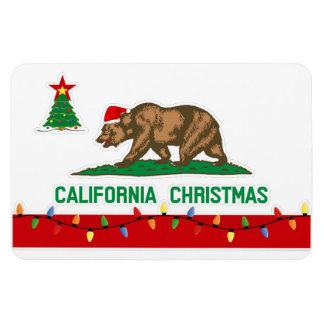 California Christmas State Flag Premium Magnet