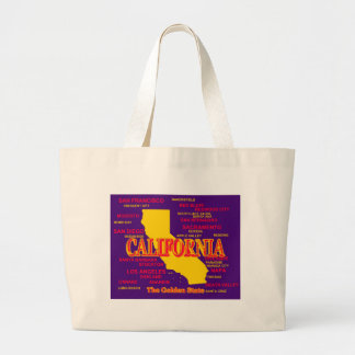 California Cities And Towns State Pride Map Large Tote Bag