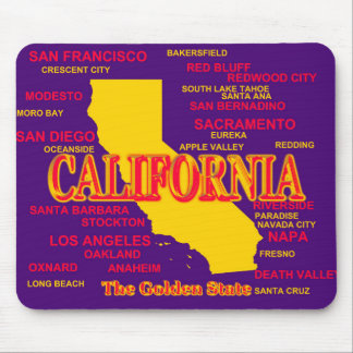 California Cities And Towns State Pride Map Mouse Pad