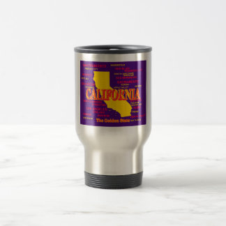 California Cities And Towns State Pride Map Travel Mug
