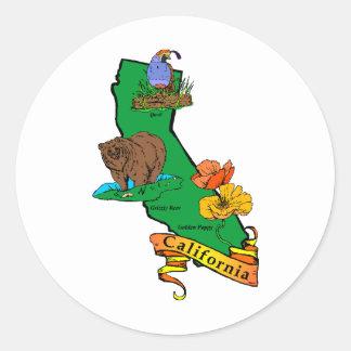 California Classic Round Sticker