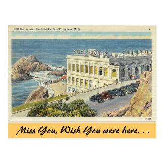 California, Cliff House Postcard