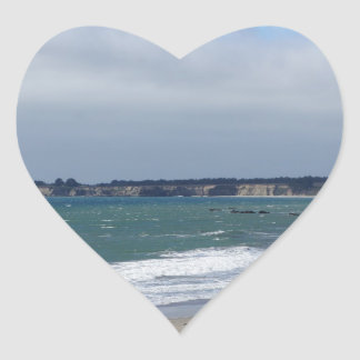 California Coast Heart Sticker