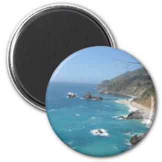 California Coast 2 Inch Round Magnet