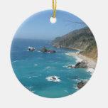 California Coast Double-Sided Ceramic Round Christmas Ornament