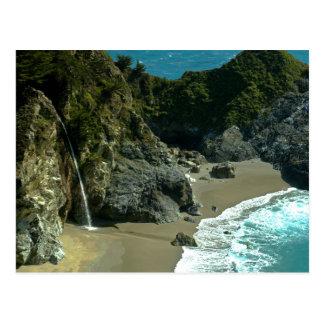 California Coast Waterfall Postcard