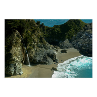 California Coast Waterfall Poster