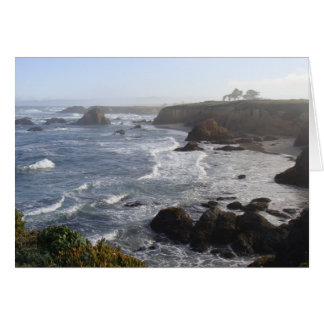 California Coastal Morning Greeting Card