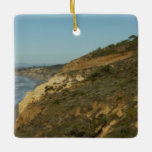 California Coastline Scenic Travel Photography Ceramic Ornament