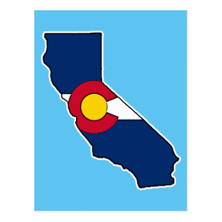 California Colorado flag postcard