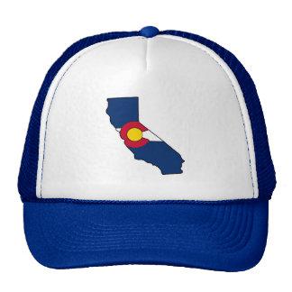 California Colorado flag trucker hat